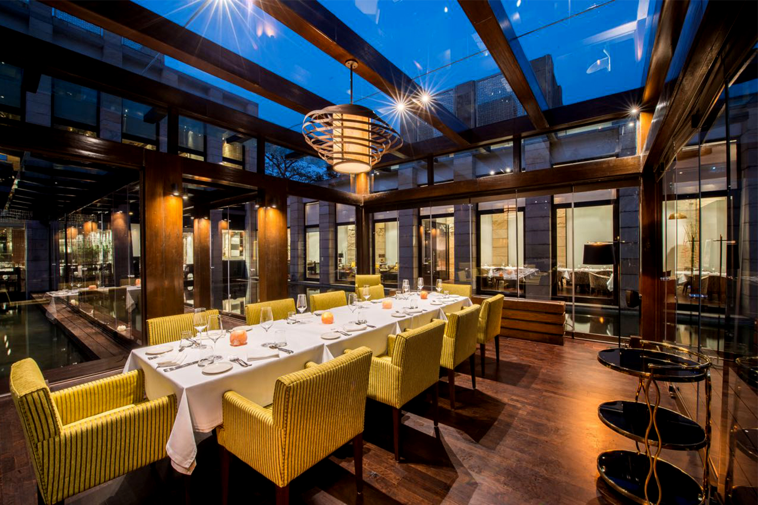 Indian Accent restaurant in New York, New Delhi and London